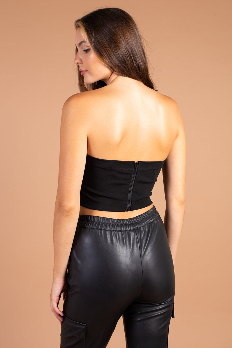 Cropped Sweetheart Seamed Bustier