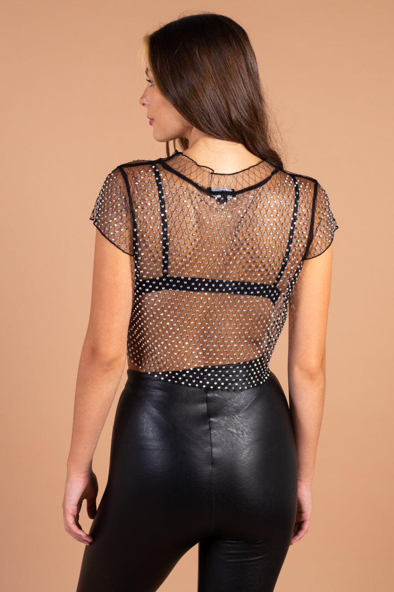 Alexa Embellished Crop Top