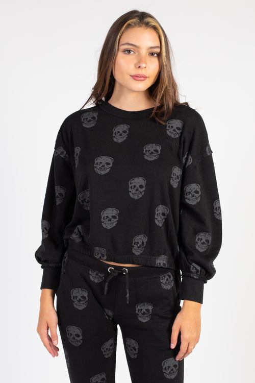 Happy Skull Crew Neck Sweatshirt