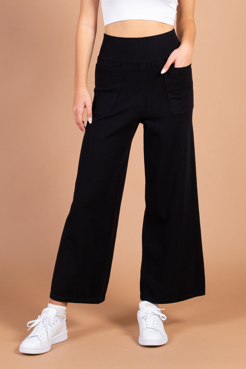 Celine Wide Leg Knit Trousers
