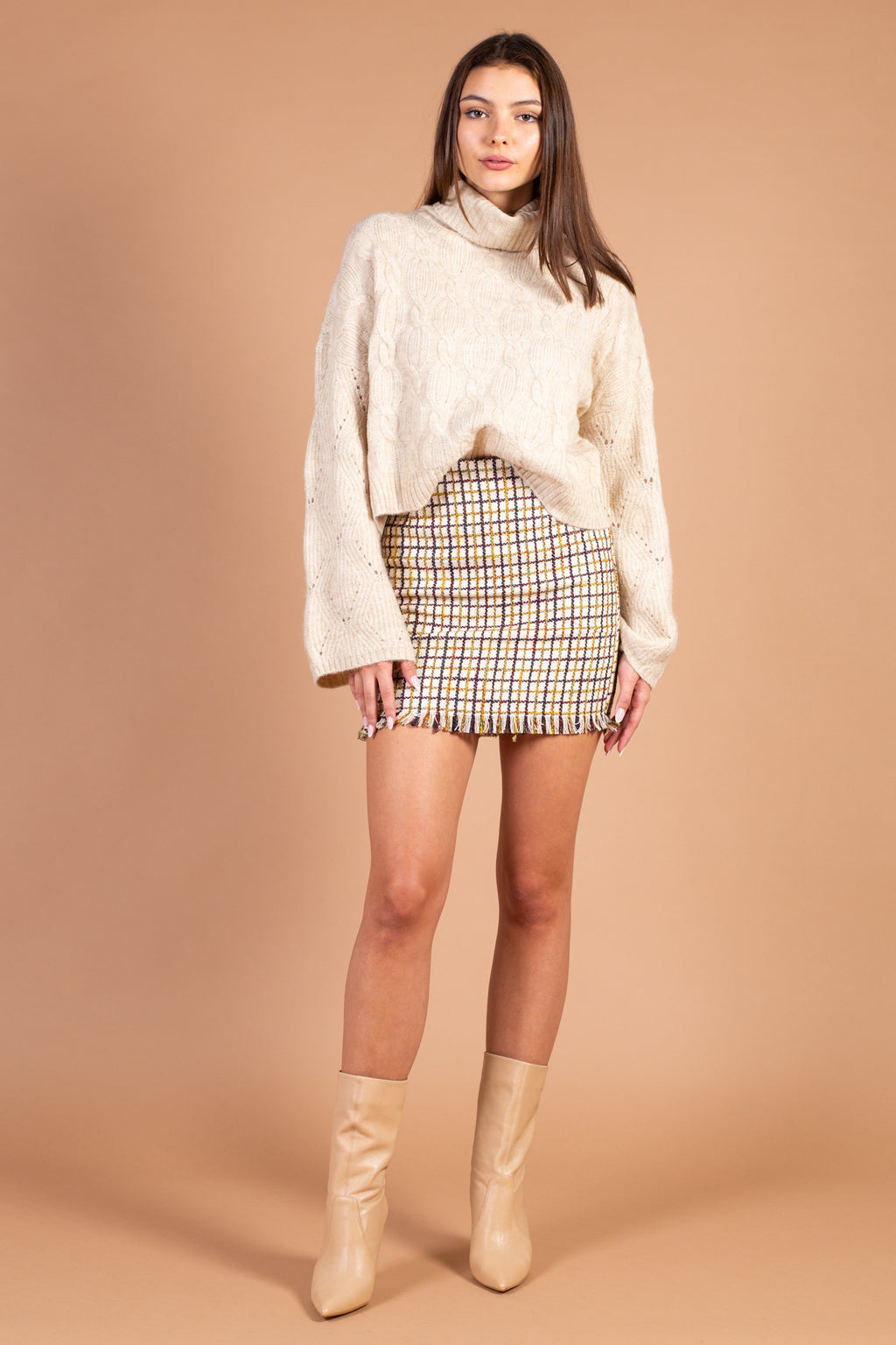 Constance Tweed Mini Skirt