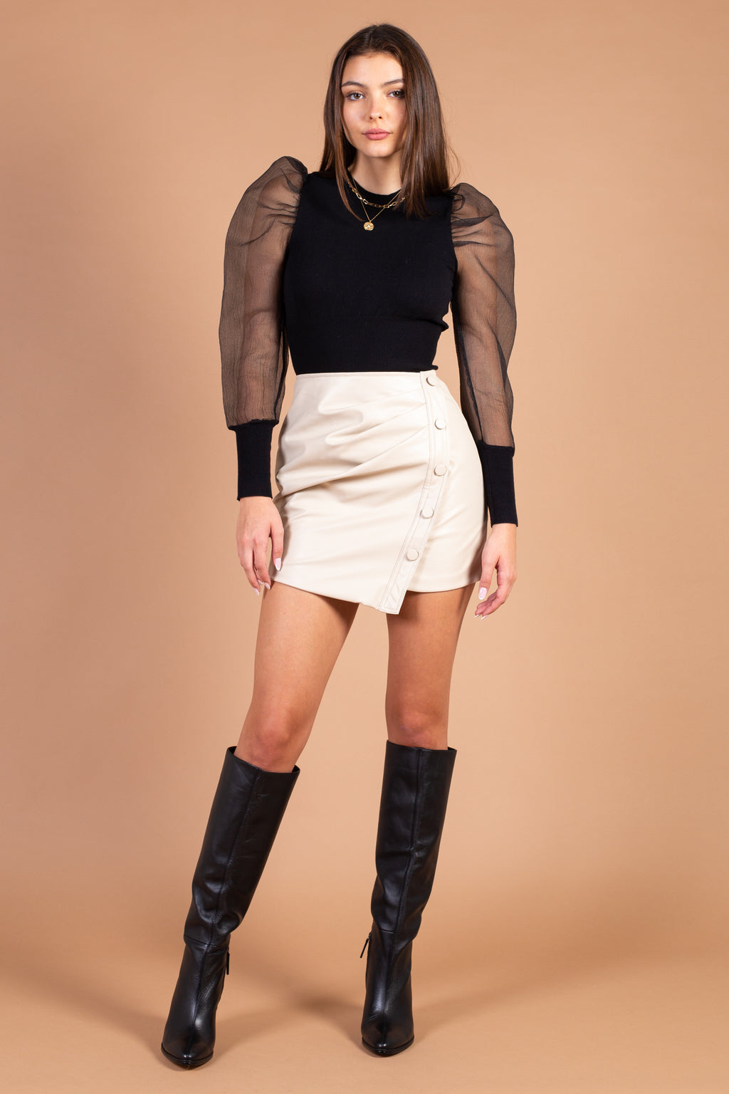 Julianna Vegan Leather Mini Skirt