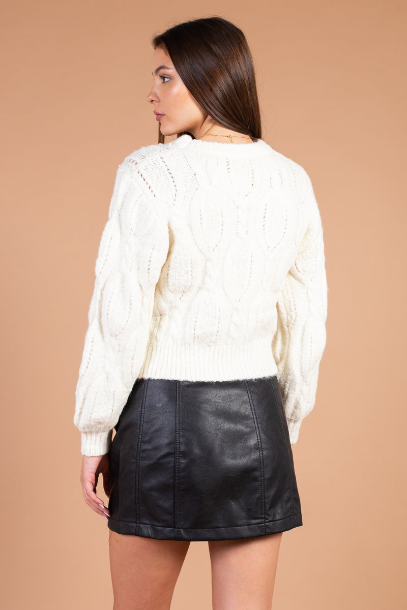 Maisie Pearl Embellished Sweater