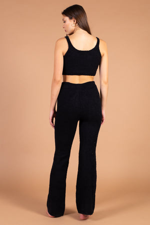 Brianna Plush Knit Crop Top