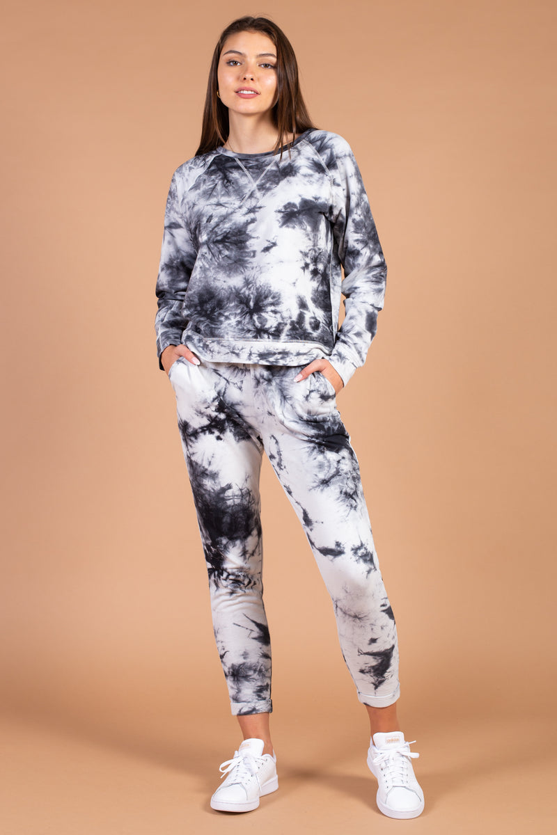 Tie Dye Rolled Cuff Jogger