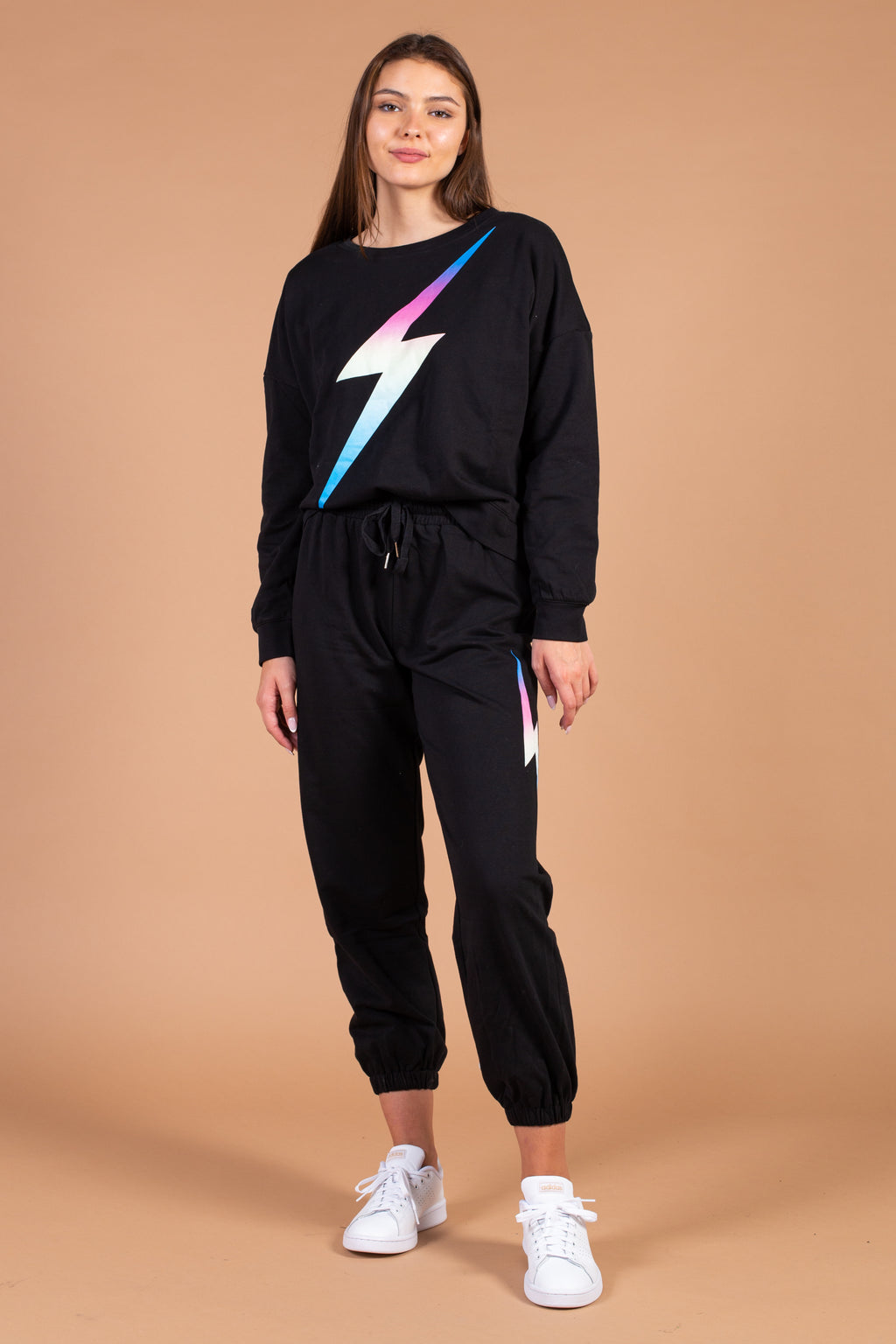 Rainbow Bolt Pullover Sweatshirt