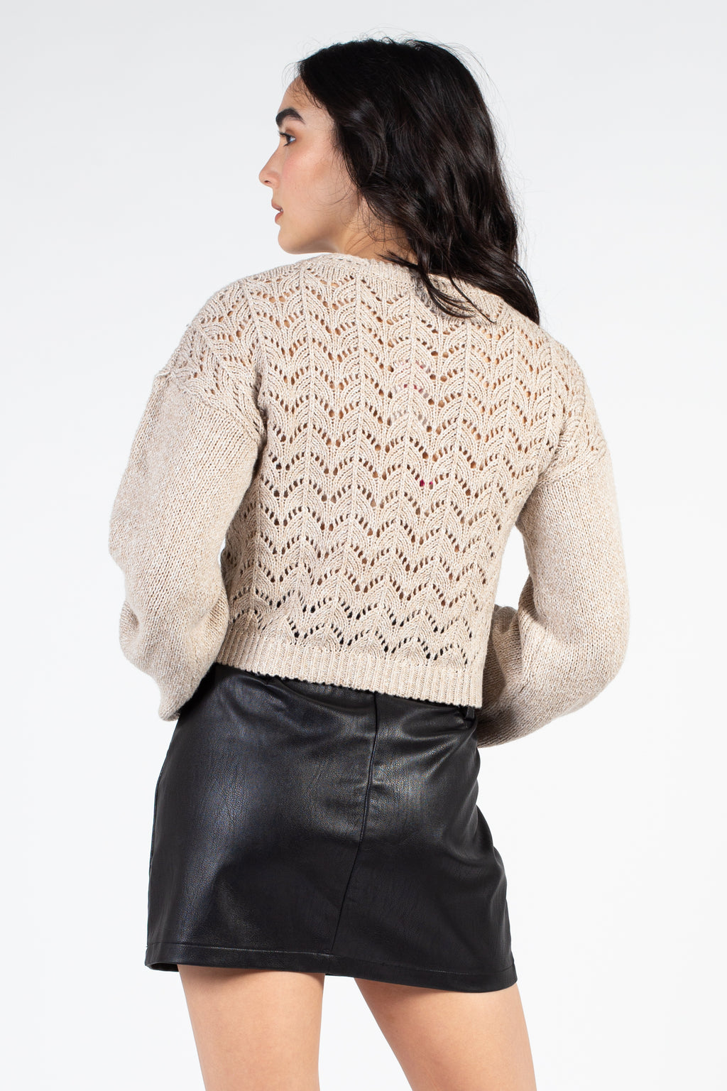 Pom Pom Pointelle Sweater
