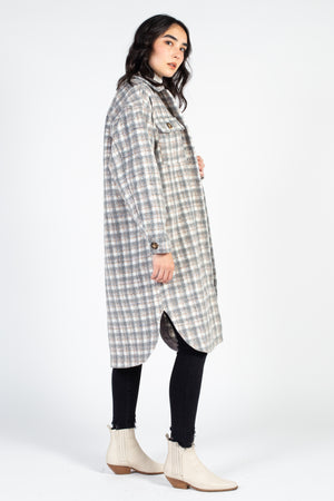 Kendall Long Plaid Coat