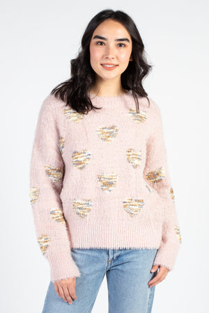 Tiger Hearts Crew Neck Sweater