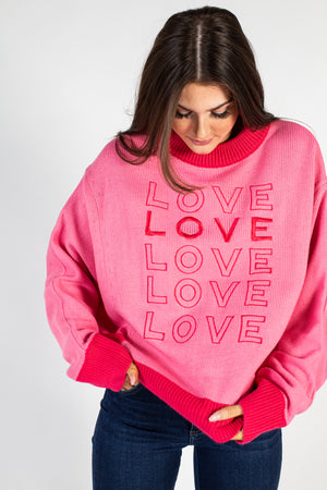 Mock Neck Eyelash Knit Sweater