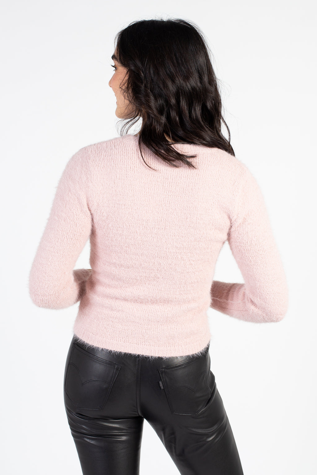 Emerson Fitted Crew Neck Sweater - honey