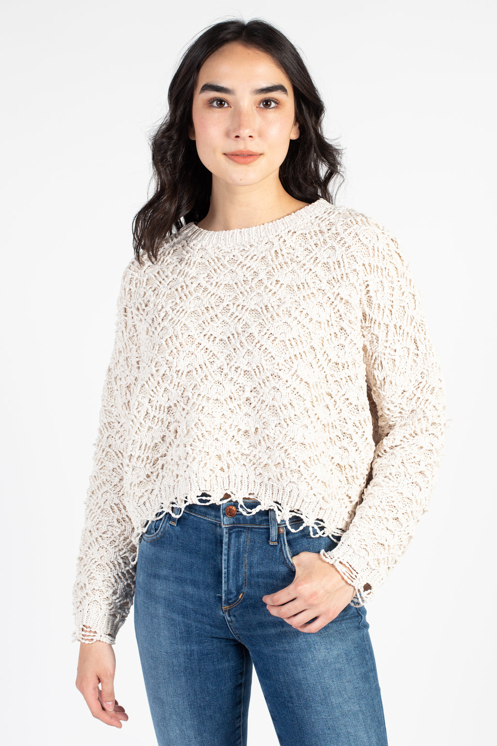 Sweet Bliss Crochet Knit Sweater