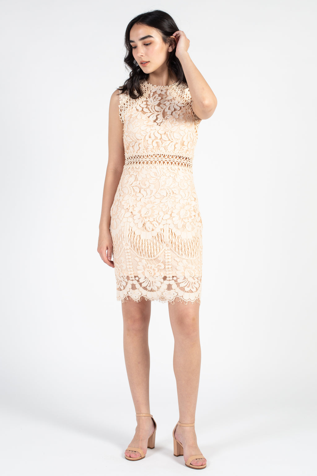 Air of Romance Lace Midi Dress