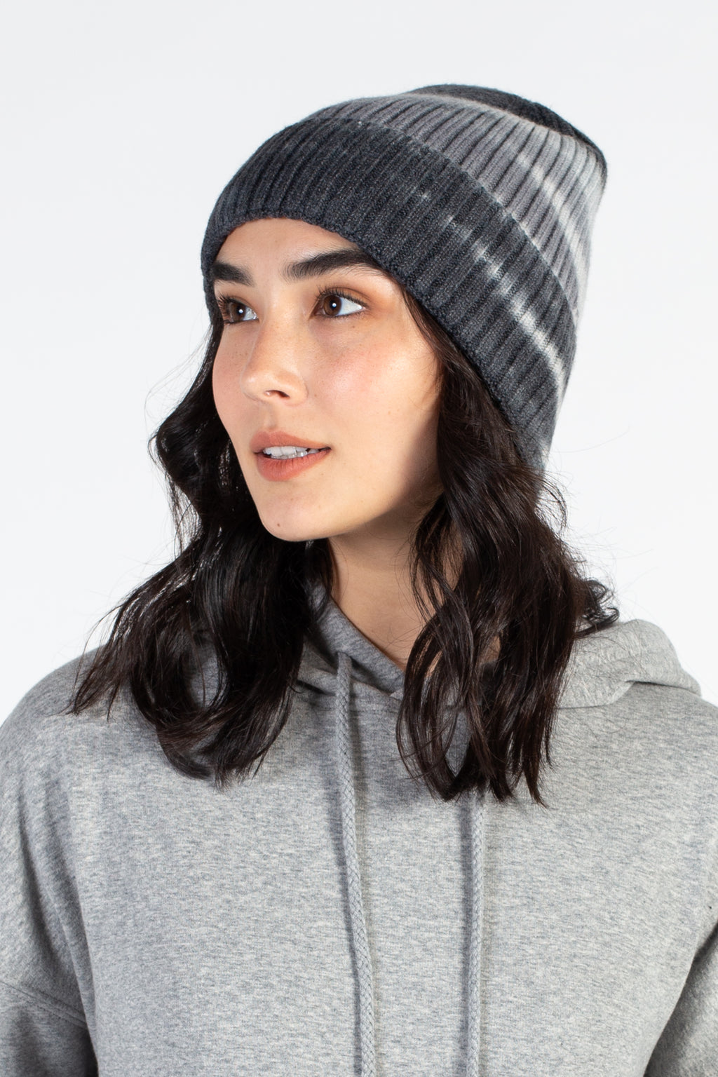 Tie Dye Ribbed Knit Hat - honey