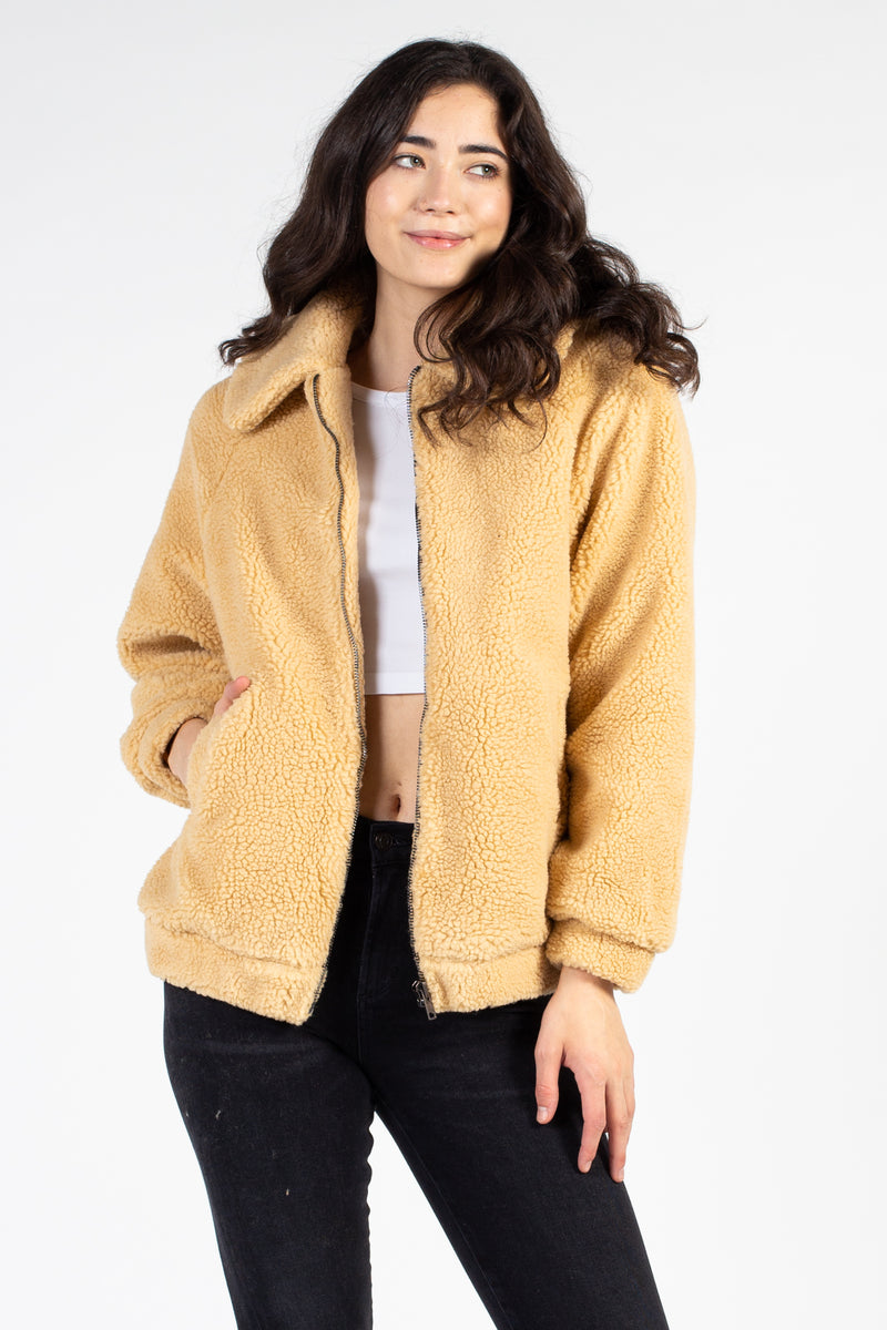 Mia Collared Teddy Jacket