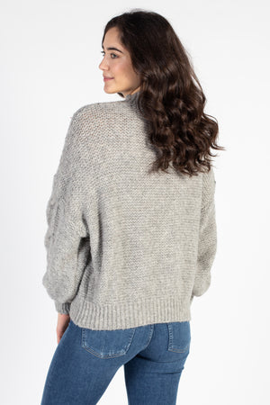 Chunky Cable Knit Sweater - honey