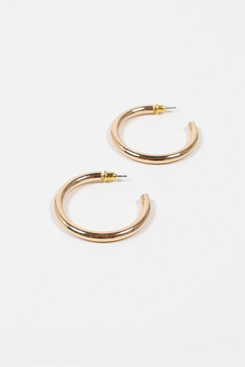 Medium Gold Tube Hoops