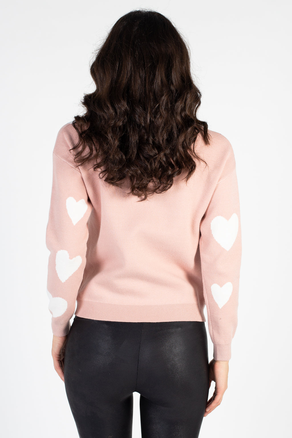 Rhinestone Heart Knit Sweater