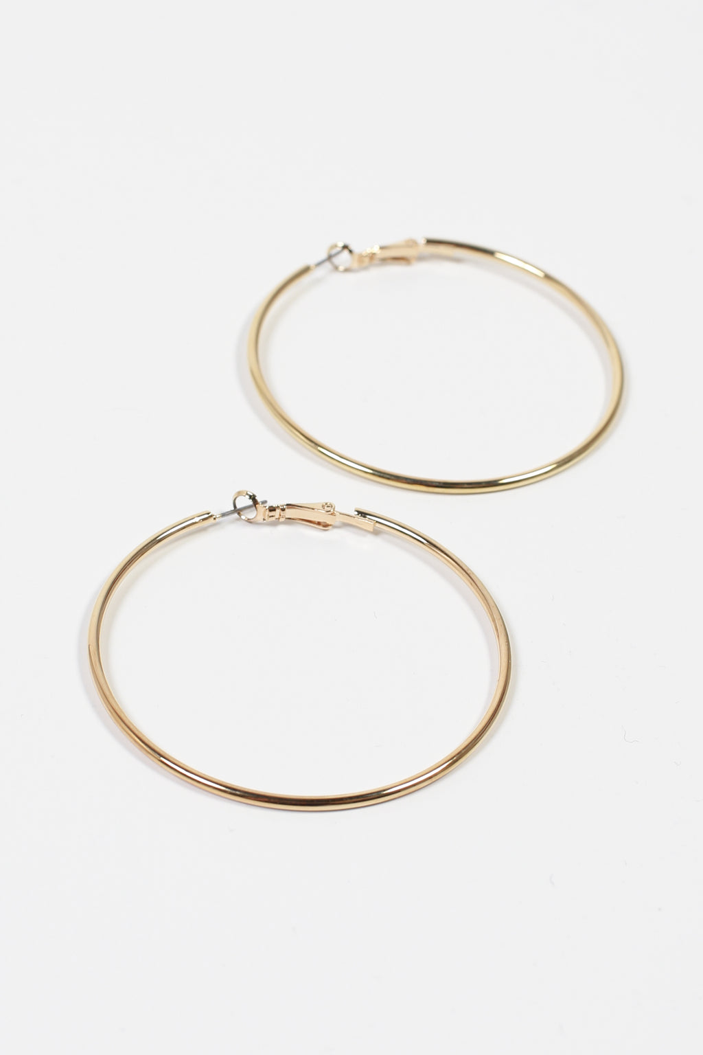 Oversize Gold Thin Hoops