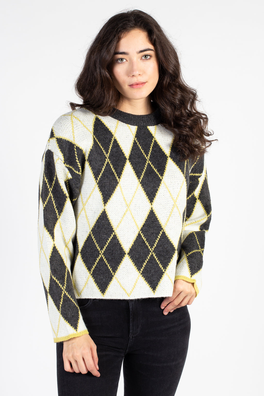 90's Argyle Knit Sweater