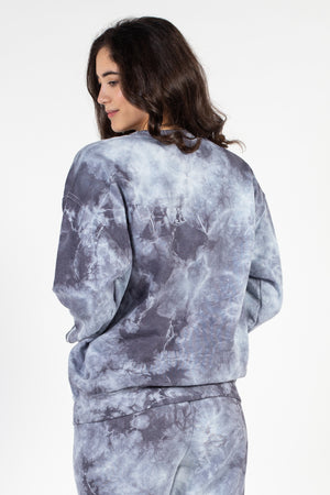 Crew Neck Tie Dye Sweatshirt - honey