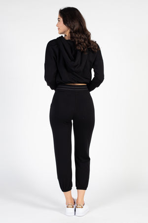 Bella Tie Front Joggers - honey