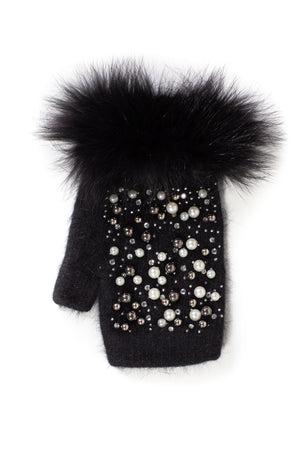 Embellished Knit Hand Warmers