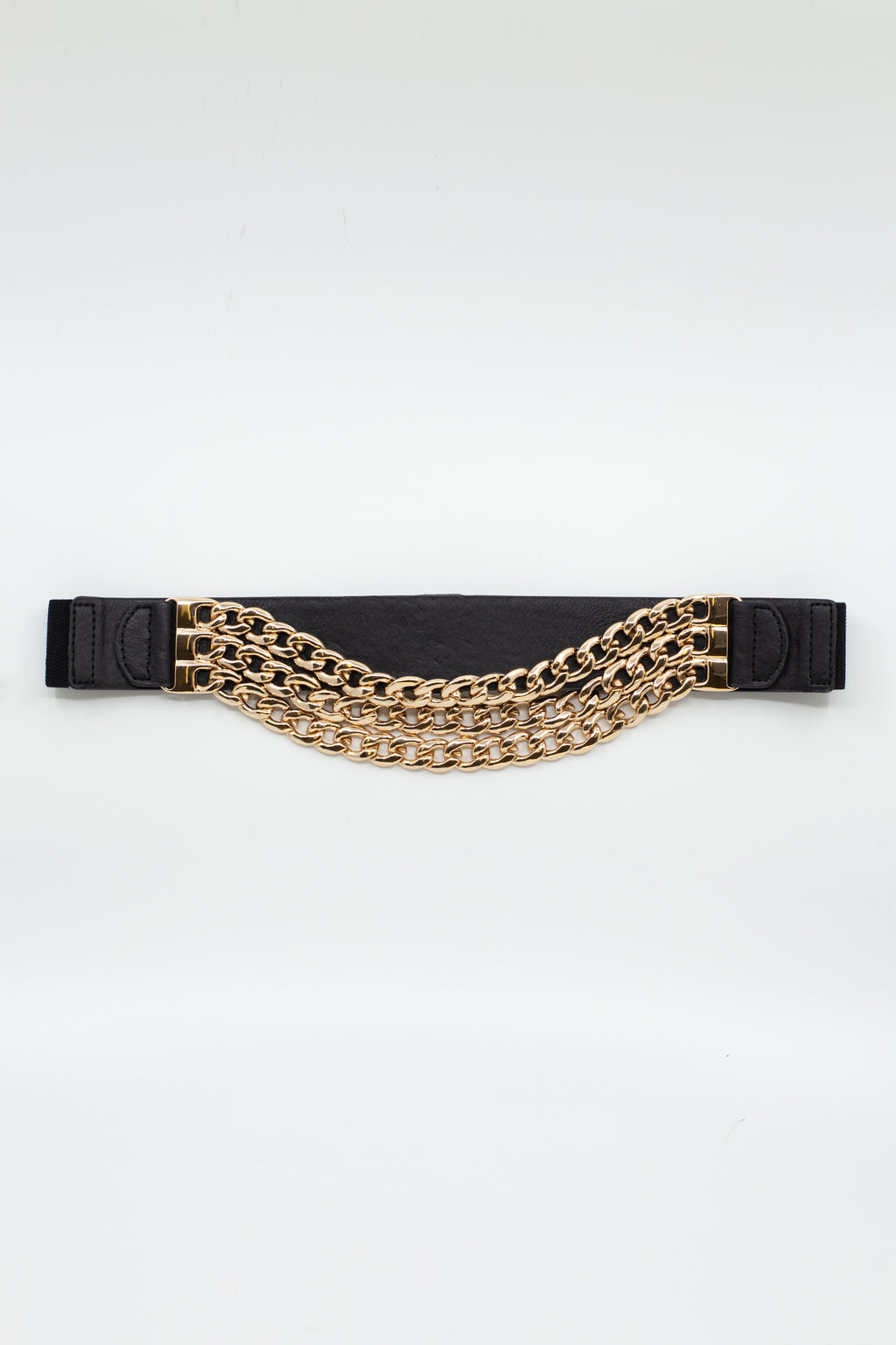 Triple Chain Front Waist Belt - honey