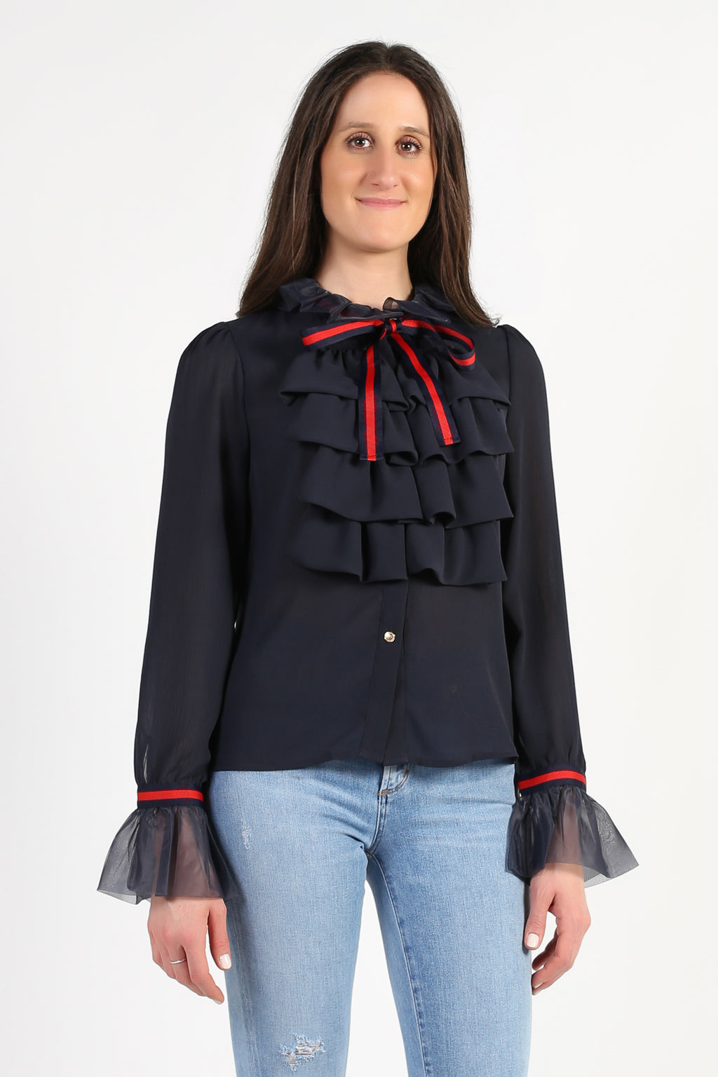 Charlotte Ruffle Layer Blouse - honey