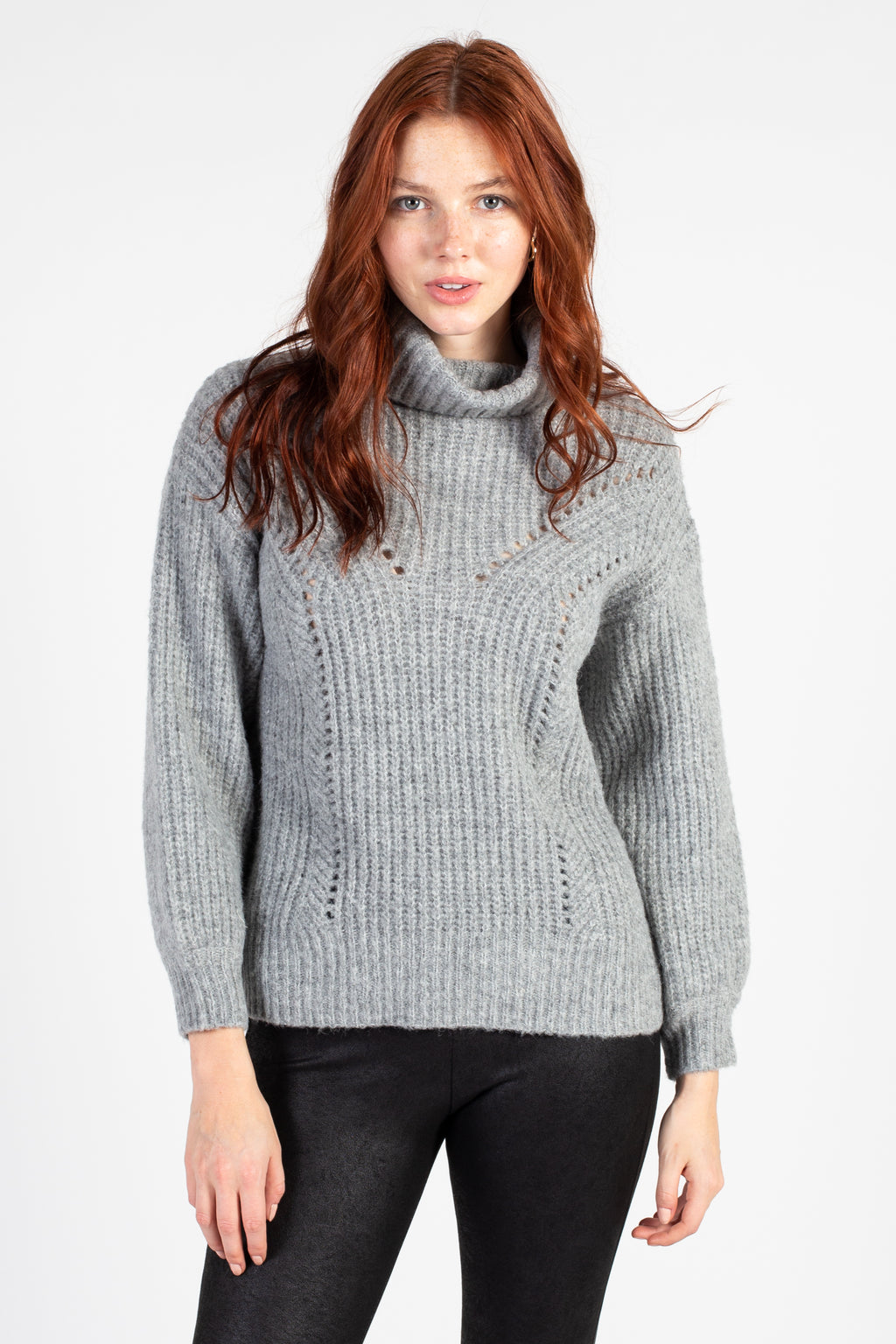 Kyla Ribbed Turtleneck Sweater - honey