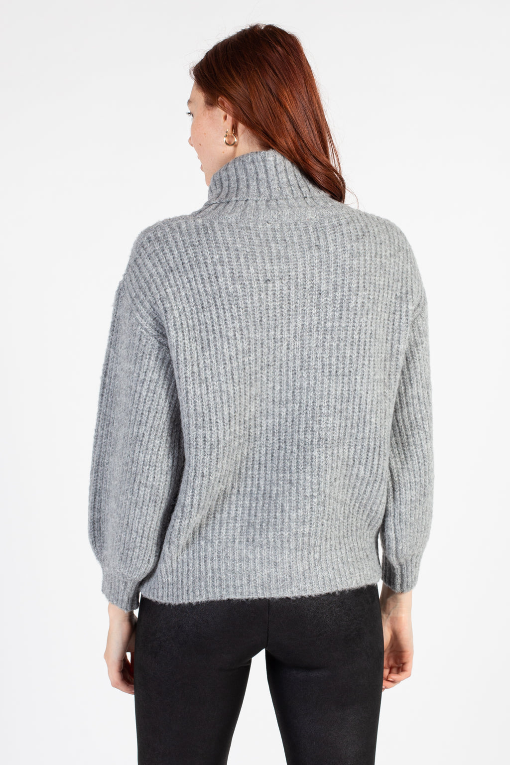 Kyla Ribbed Turtleneck Sweater