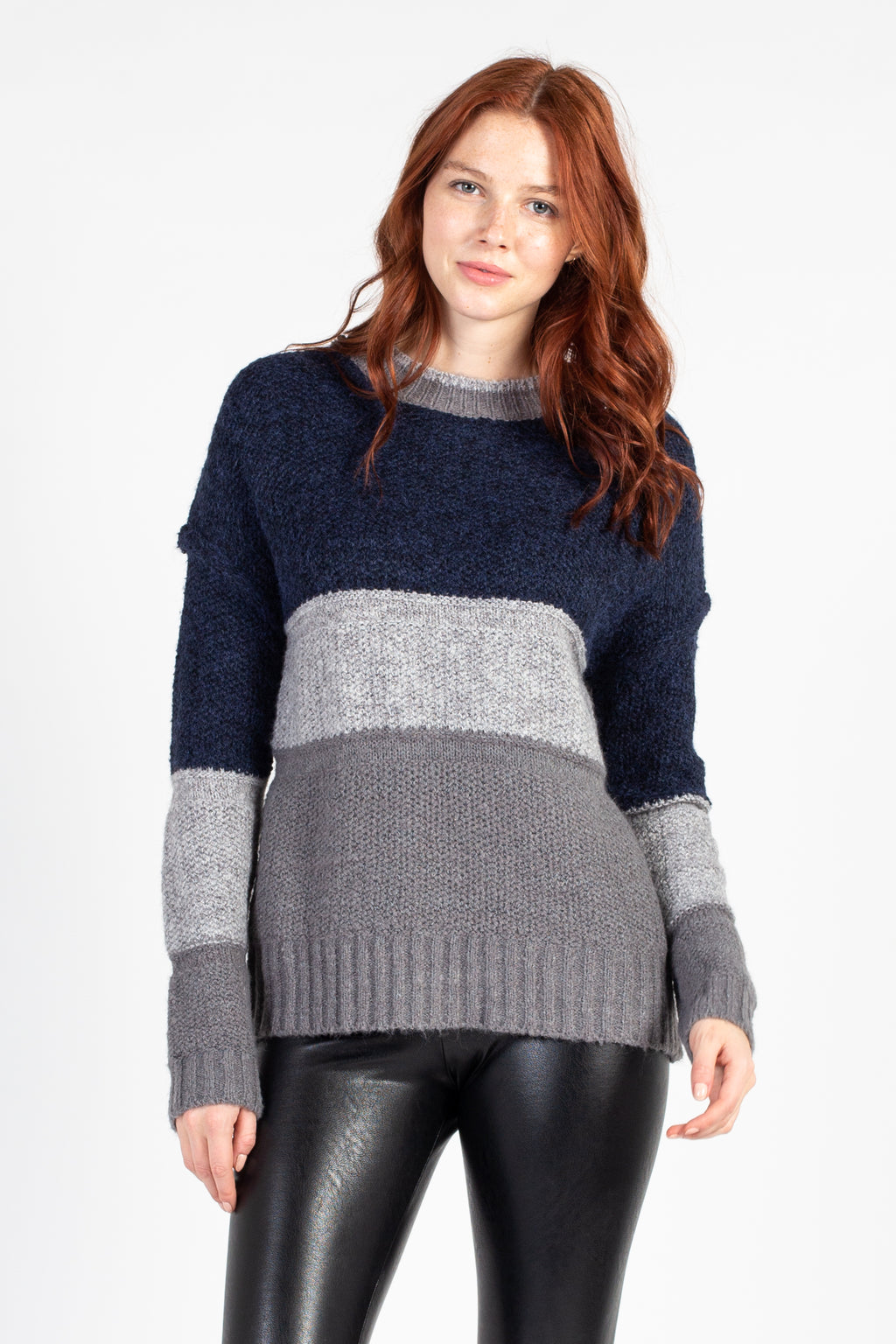 Colourblock Stripe Knit Sweater
