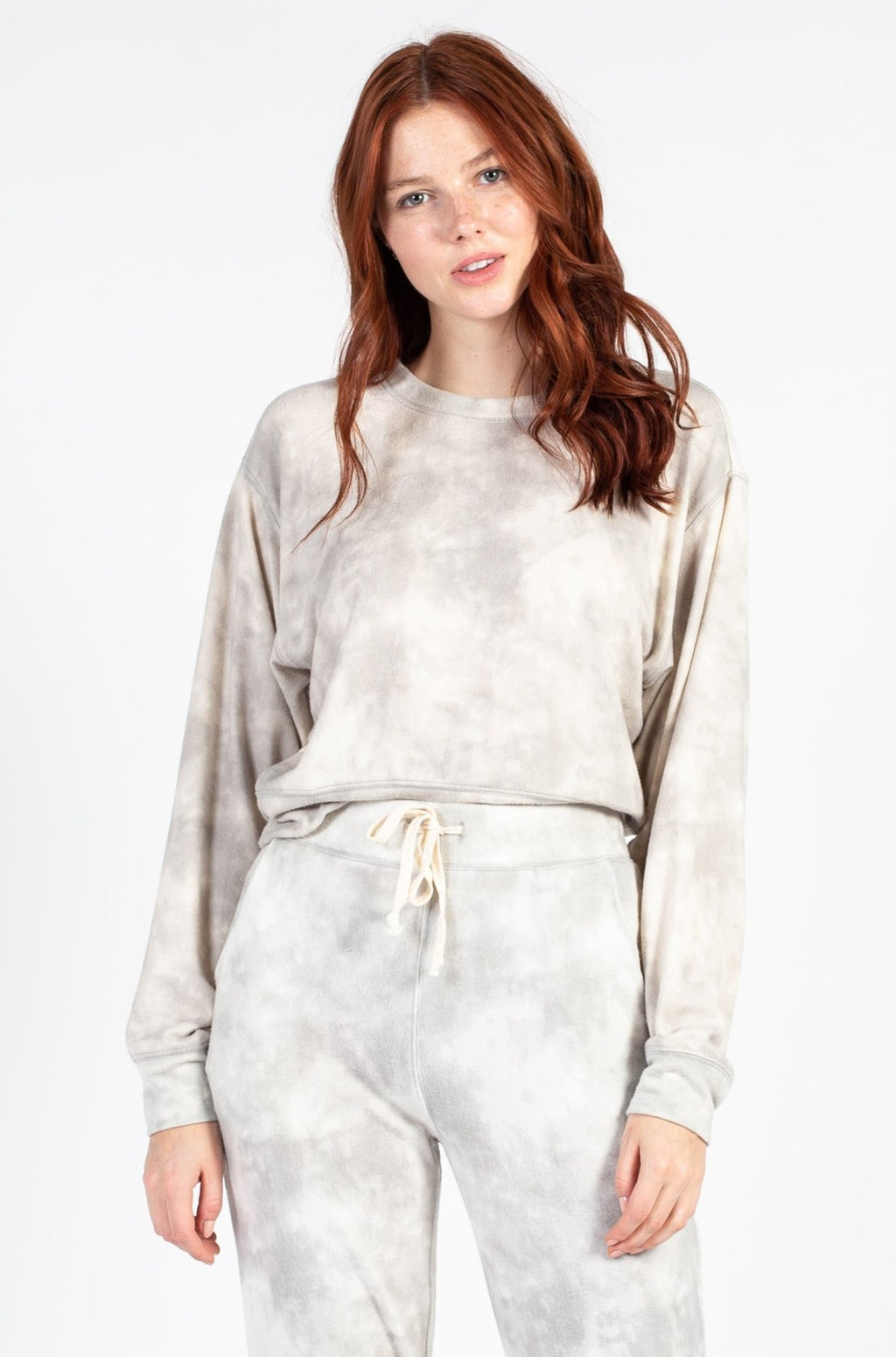 Tie Dye Lounge Sweatshirt - honey