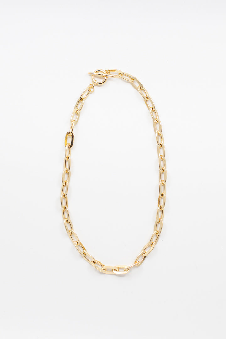 Thin Gold Chain Necklace - honey