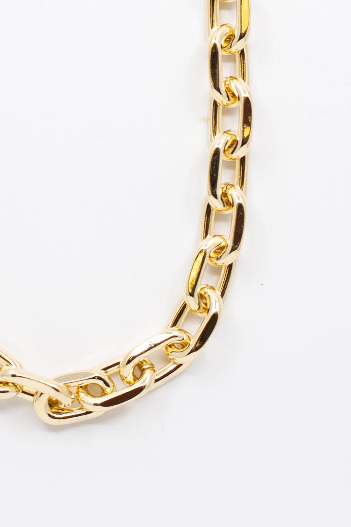 Chunky Gold Chain Necklace - honey