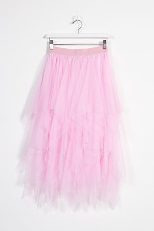 Dreamer Layered Tulle Skirt - honey