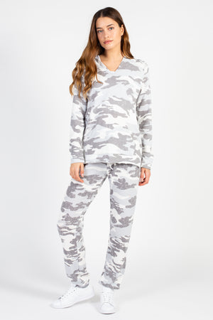 Emmy Camo Knit Joggers - honey