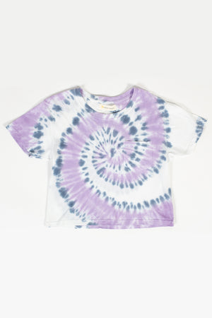 Boxy Crop Tie Dye Pocket Tee - honey