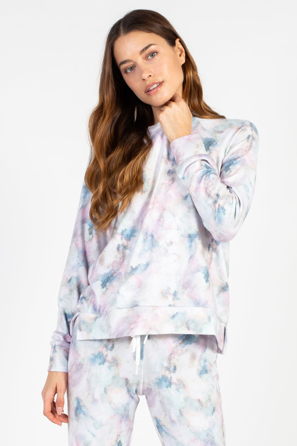 Marble Vibes Tie Dye Pullover