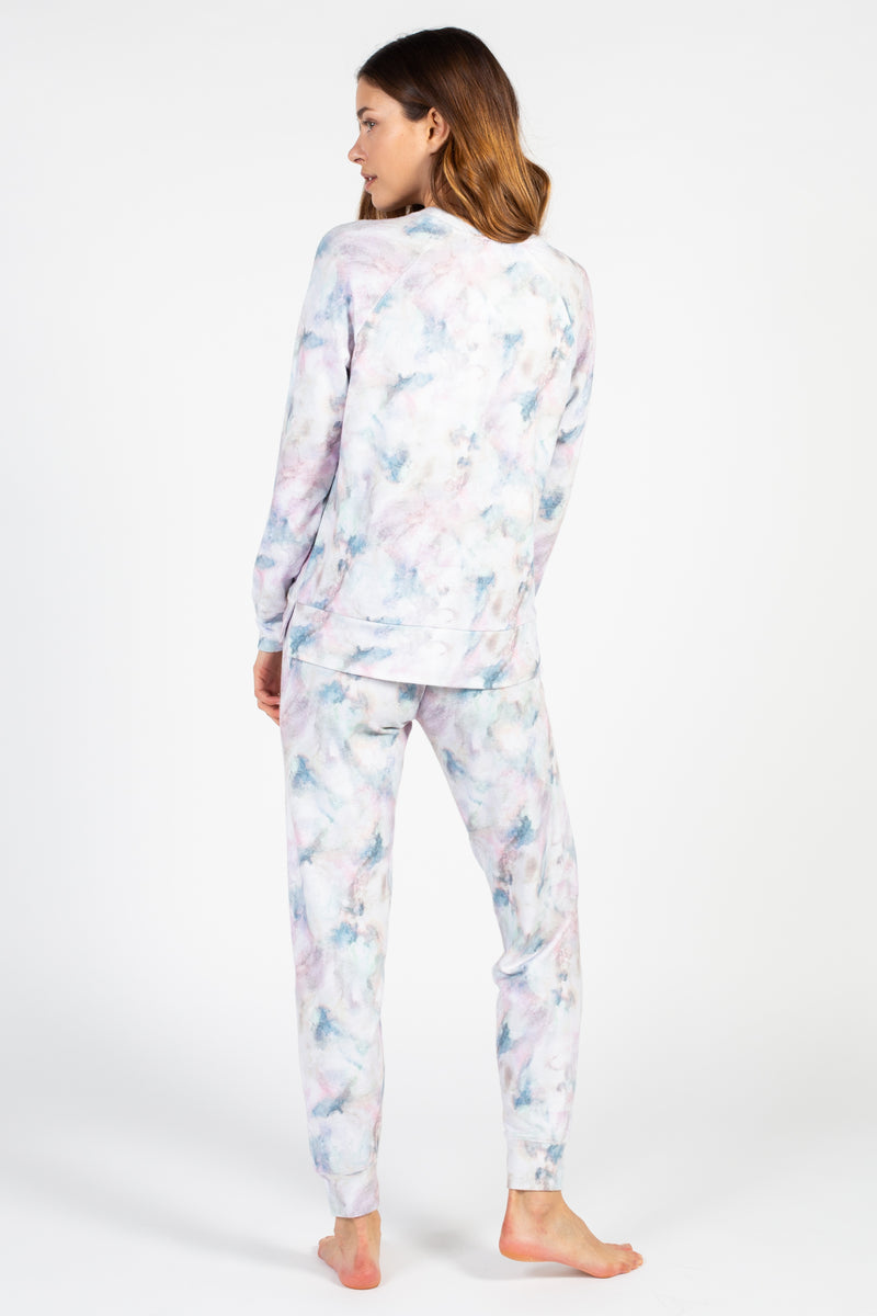 Marble Vibes Tie Dye Pullover - honey
