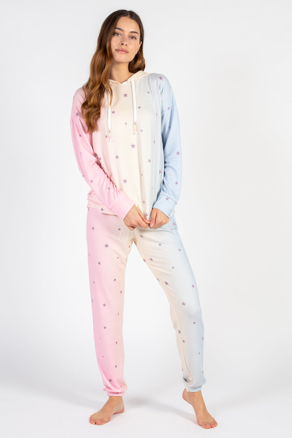 Cotton Candy Party Stars Hoodie - honey