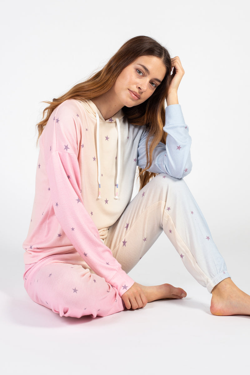 Cotton Candy Party Stars Joggers - honey