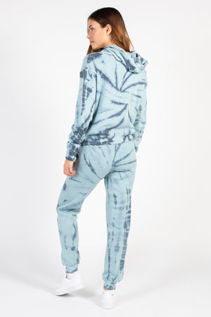 Burnout Tie Dye Swirl Joggers - honey