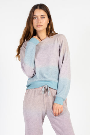 Hacci Ombre Crew Neck Sweatshirt - honey