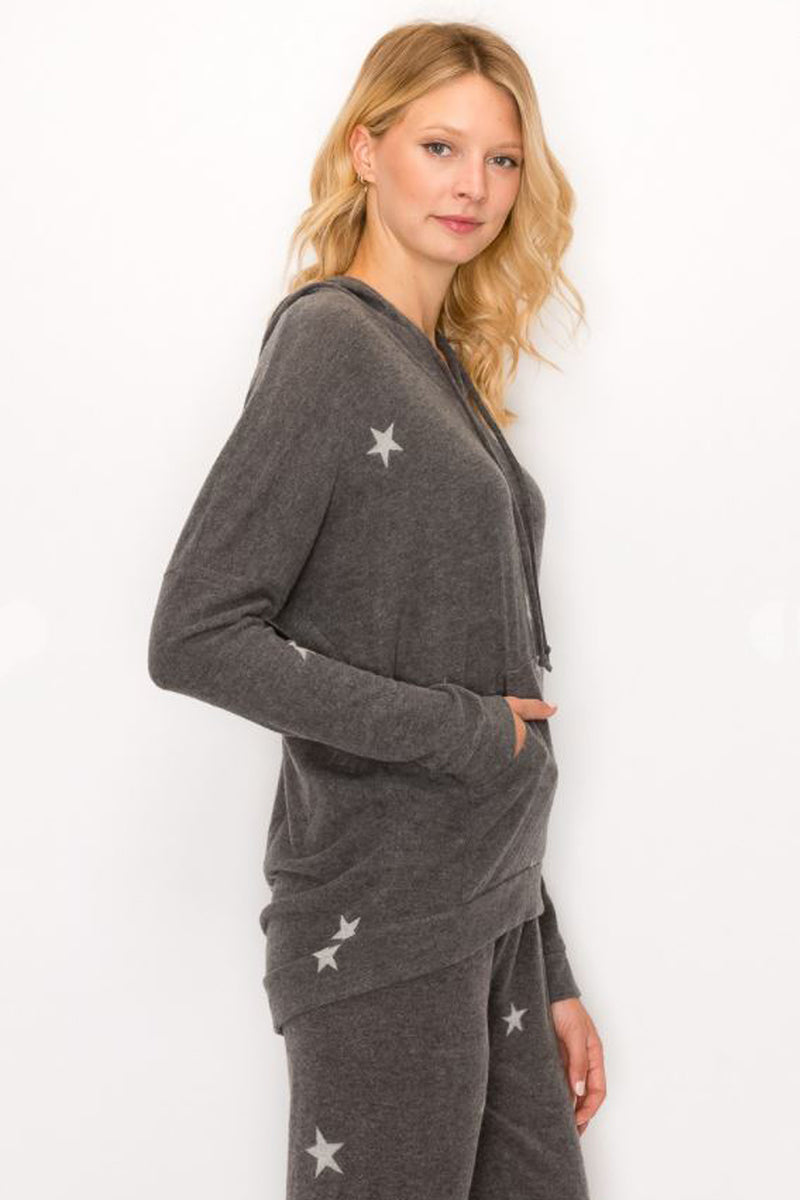 Reach for the Stars Brushed Hoodie - honey