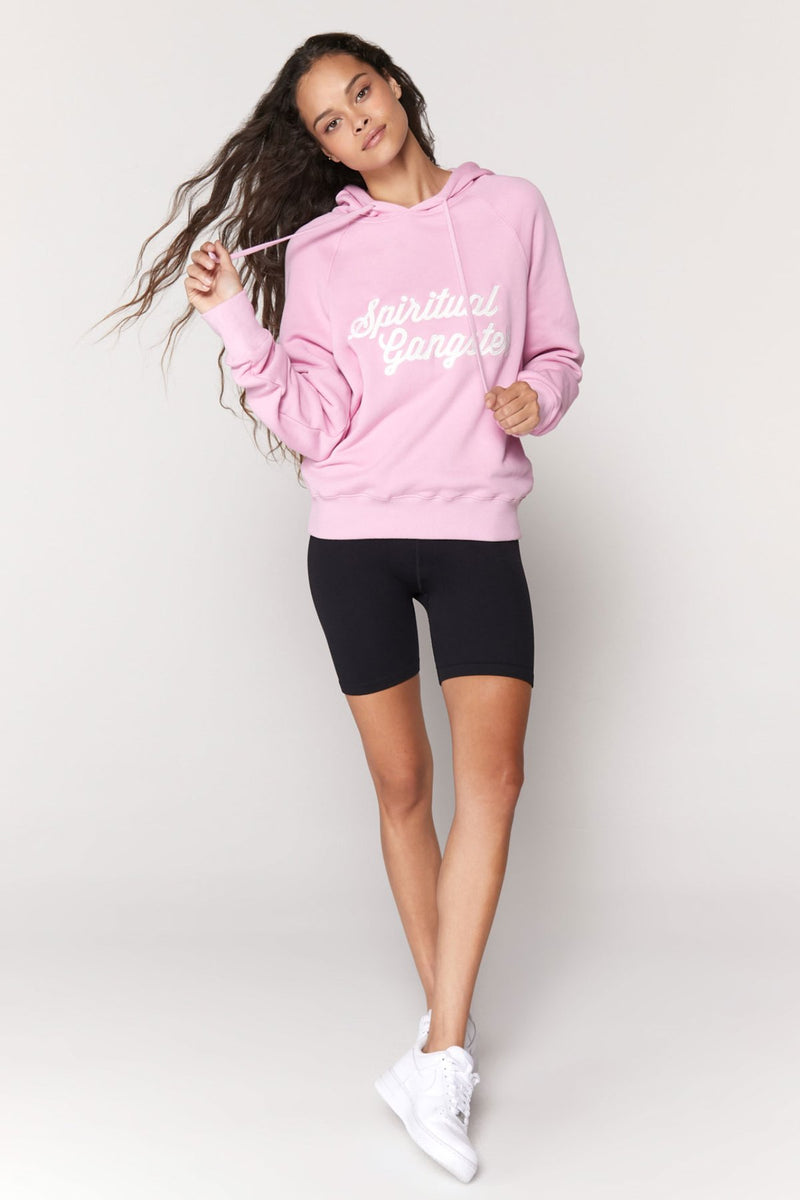 Script Throwback Raglan Pullover Hoodie - honey