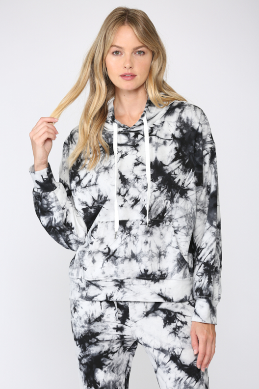 Tie Dye Pullover Hooded Sweatshirt
