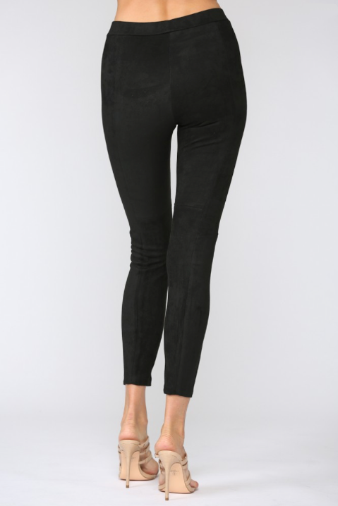 High Waist Faux Suede Leggings