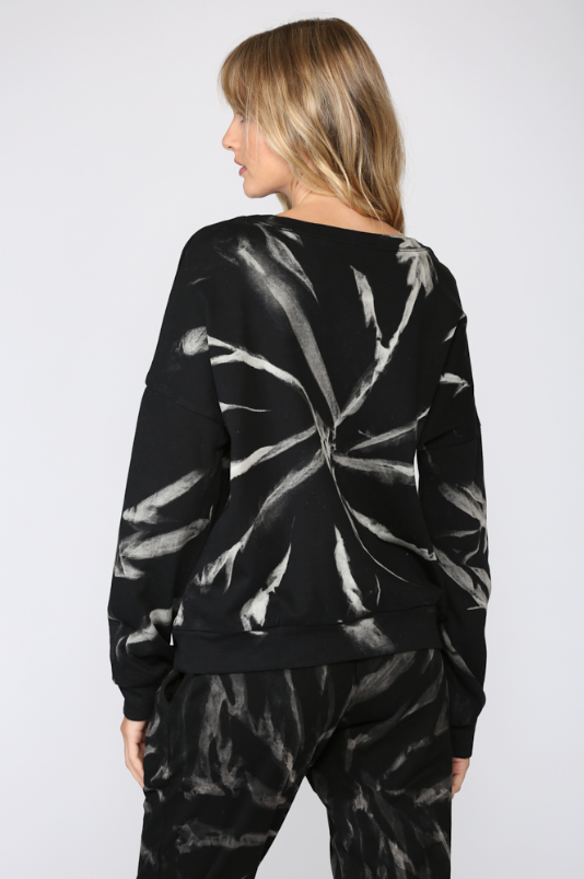 Spider Web Tie Dye Pullover - honey