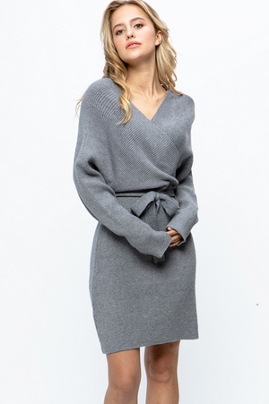 Laurie Tie Waist Sweater Dress
